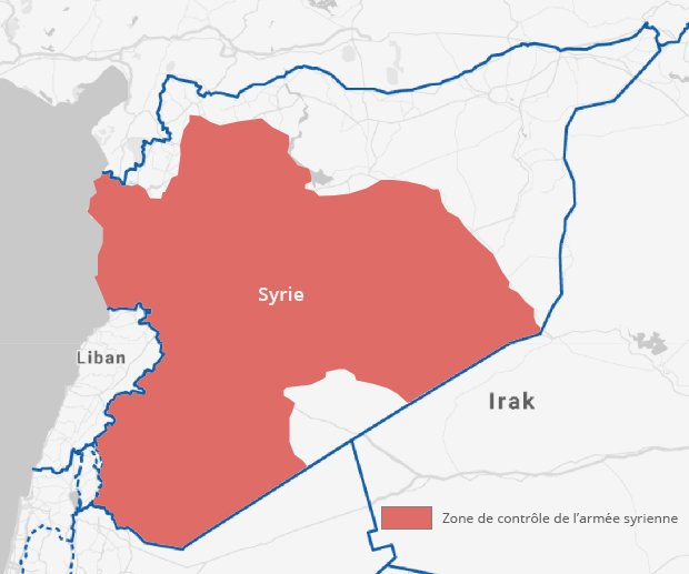 Carte zone syrie