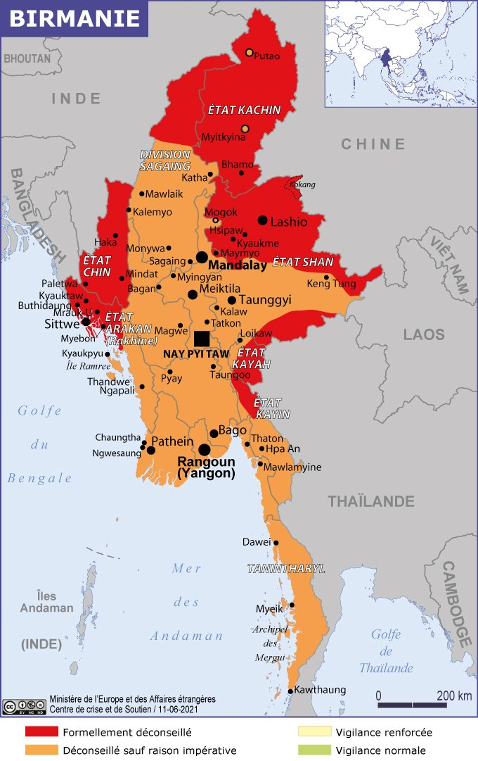 Carte Birmanie site MEAE